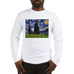 Starry Night /Belgian Sheepdog Long Sleeve T-Shirt