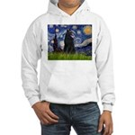 Starry Night /Belgian Sheepdog Hooded Sweatshirt