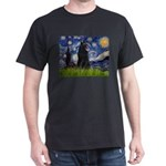 Starry Night /Belgian Sheepdog Dark T-Shirt