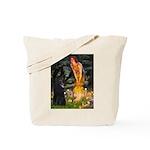 Fairies /Belgian Sheepdog Tote Bag