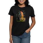 Fairies /Belgian Sheepdog Women's Dark T-Shirt