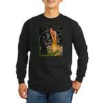 Fairies /Belgian Sheepdog Long Sleeve Dark T-Shirt