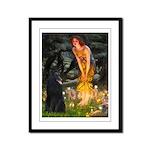 Fairies /Belgian Sheepdog Framed Panel Print