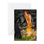 Fairies /Belgian Sheepdog Greeting Cards (Pk of 20
