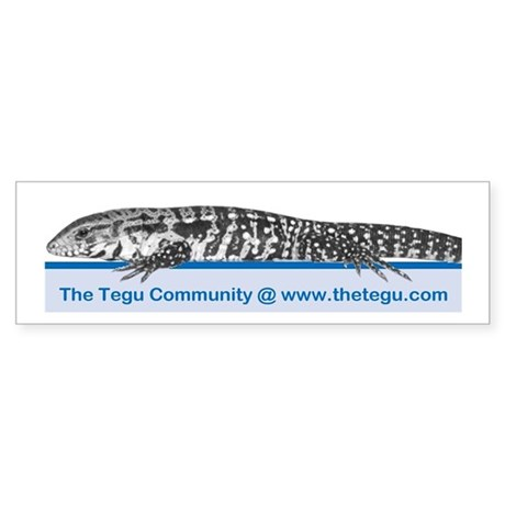 The Tegu Community Bumper Sticker