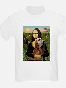 Mona & her Bloodhound Kids T-Shirt