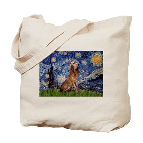Starry Night Bloodhound Tote Bag