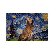 Starry Night Bloodhound Rectangle Magnet