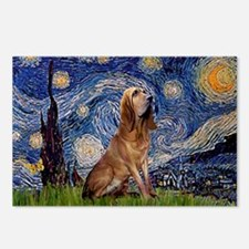 Starry Night Bloodhound Postcards (Package of 8)