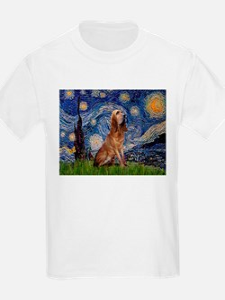 Starry Night Bloodhound Kids T-Shirt