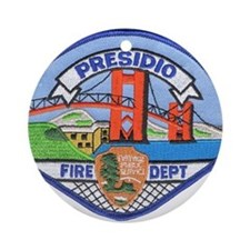 Presidio Fire Department Ornament (Round)