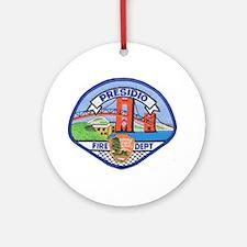 Presidio Fire Department Ornament (Round)