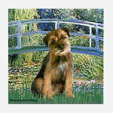 Bridge / Border Terrier Tile Coaster