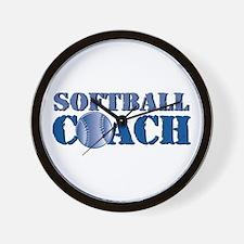 Softball Coach Wall Clock