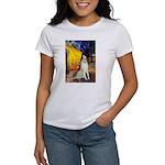 Terrace Cafe & Borzoi Women's T-Shirt