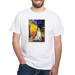 Terrace Cafe & Borzoi White T-Shirt