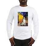 Terrace Cafe & Borzoi Long Sleeve T-Shirt