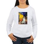 Terrace Cafe & Borzoi Women's Long Sleeve T-Shirt
