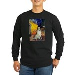 Terrace Cafe & Borzoi Long Sleeve Dark T-Shirt