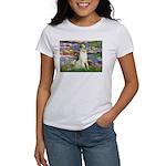 Borzoi in Monet's Lilies Women's T-Shirt