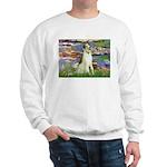 Borzoi in Monet's Lilies Sweatshirt