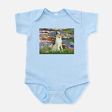 Borzoi in Monet's Lilies Infant Bodysuit