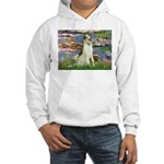 Borzoi in Monet's Lilies Hooded Sweatshirt