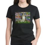 Borzoi in Monet's Lilies Women's Dark T-Shirt