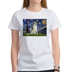 Starry Night & Borzoi Women's T-Shirt