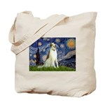 Starry Night & Borzoi Tote Bag