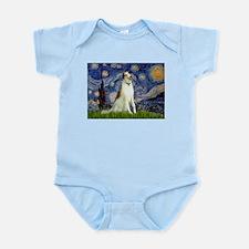 Starry Night & Borzoi Infant Bodysuit
