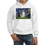 Starry Night & Borzoi Hooded Sweatshirt