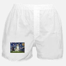 Starry Night & Borzoi Boxer Shorts