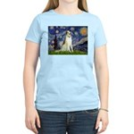 Starry Night & Borzoi Women's Light T-Shirt