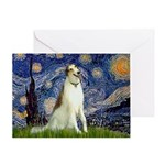Starry Night & Borzoi Greeting Card