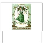 Irish Channel Woman Yard Sign