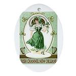 Irish Channel Woman Oval Ornament