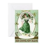 Irish Channel Woman Greeting Cards (Pk of 10)