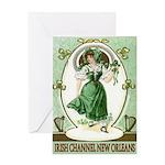 Irish Channel Woman Greeting Card
