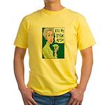 Kiss My Irish Arse Yellow T-Shirt