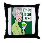 Kiss My Irish Arse Throw Pillow