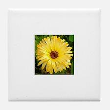 Cute Strawflower Tile Coaster