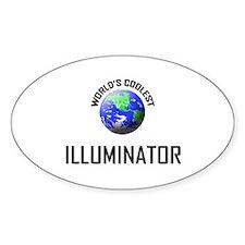 World's Coolest ILLUMINATOR Oval Decal