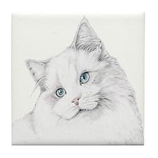 Kitty Cat Tile Coaster