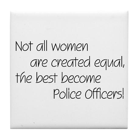Best Police Officers Tile Coaster
