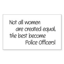 Best Police Officers Rectangle Decal