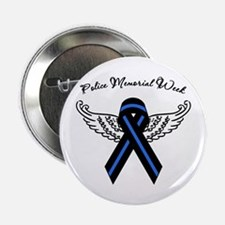 "Police Week Ribbon 2.25"" Button"