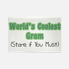 World's Coolest Gram Rectangle Magnet