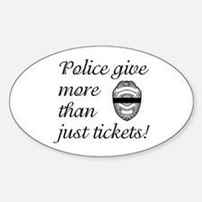 Police Give More Oval Decal