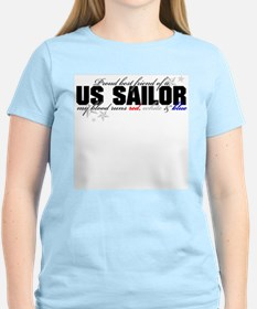 Red, white & blue USN Best Fr T-Shirt